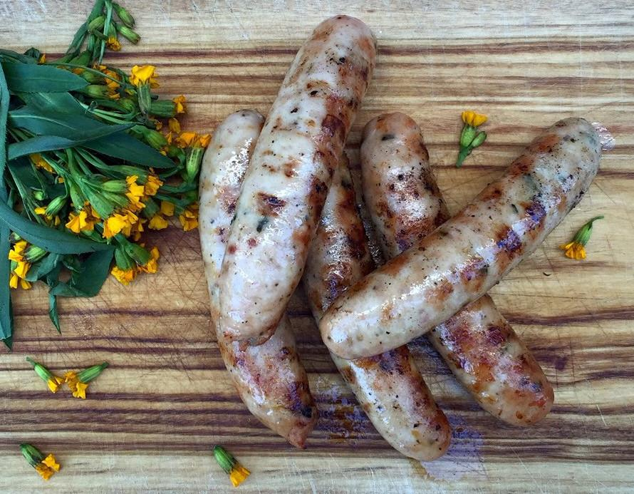 Organic chicken & garlic chive sausage