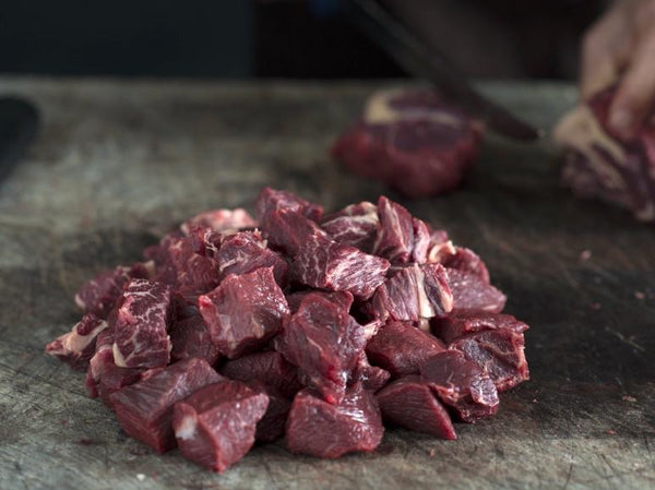 Pastured beef dice - lean 500 gm