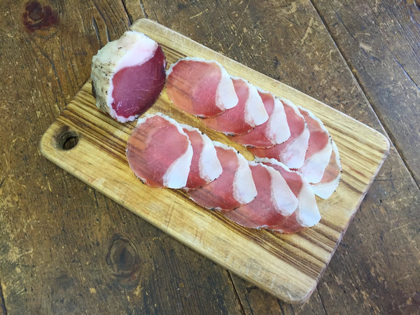 Pastured NSW pork lonza - air-cured: sliced