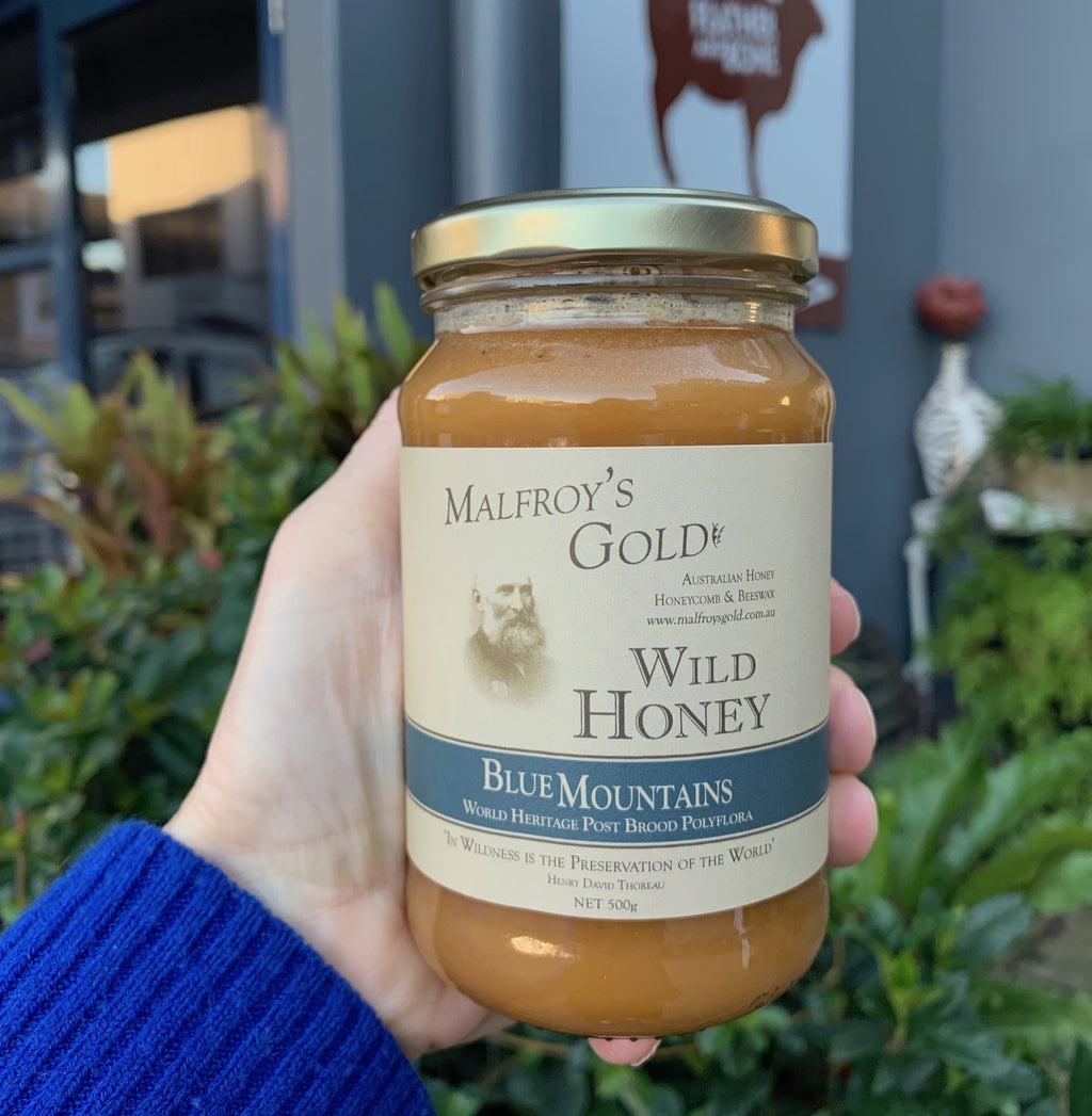 Malfroy's Gold Wild Honey: Blue Mountains Postbrood, 500 gm