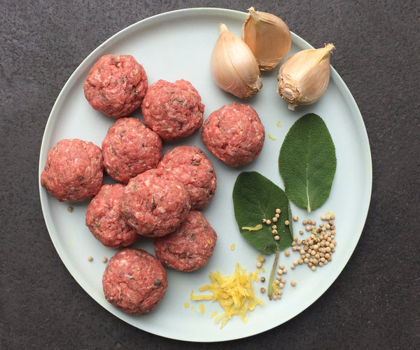Veal, pork and sage meatballs
