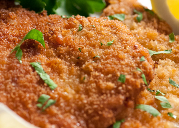 Crumbed veal schnitzel (back in stock 21/6)