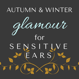 Glamorous styles of hypoallergenic earrings for sensitive ears in jewel tones for Autumn and Winter by Pretty Sensitive Ears