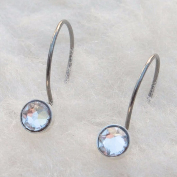 Crystal Niobium Do-Drop Earrings - Nickel Free for Sensitive Ears - Pretty Sensitive Ears