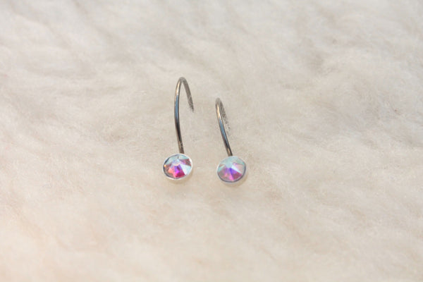 Aurora Borealis Crystal Niobium Do-Drop Earrings for Sensitive Ears - Pretty Sensitive Ears