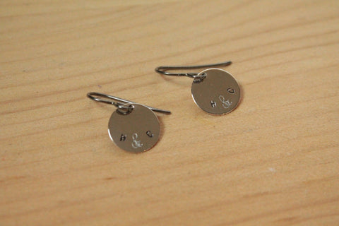 Personalized Me & You Stamped Titanium / Niobium / Surgical Steel Earrings