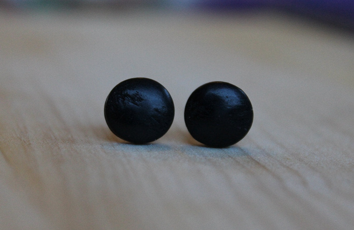 Vintage Japanese Wood Cabachons (Niobium/Titanium/Surgical Steel Studs) - Pretty Sensitive Ears