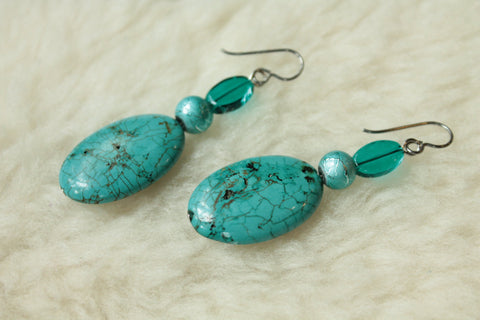 Azure Sky Dangles (Surgical Steel, Niobium, Titanium Earrings) - Pretty Sensitive Ears