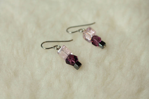 Geometrica Dangles (Surgical Steel, Niobium, or Titanium Earrings) - Pretty Sensitive Ears
