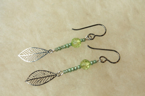 Petiole Dangles (Surgical Steel Earrings, Niobium Earrings, or Titanium Earrings) - Pretty Sensitive Ears