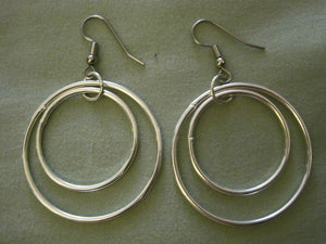 Silver Double Hoops (Surgical Steel, Niobium, or Titanium Earrings) - Pretty Sensitive Ears