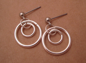 Double Hoops (Surgical Steel Stud Earrings for Sensitive Ears) - Pretty Sensitive Ears