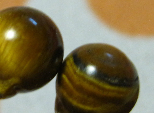 Tiger Eye Gemstones (Surgical Steel, Niobium, or Titanium Stud Earrings) - Pretty Sensitive Ears