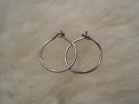 Relief Hoops - 20 gauge Niobium or Titanium Hoop Earrings - Nickel Free Hypoallergenic Earrings - Pretty Sensitive Ears