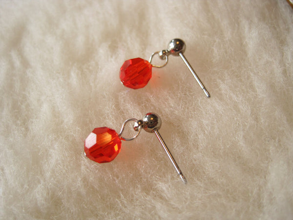 Tangerine Crystals (Surgical Steel Post Earrings) - Pretty Sensitive Ears