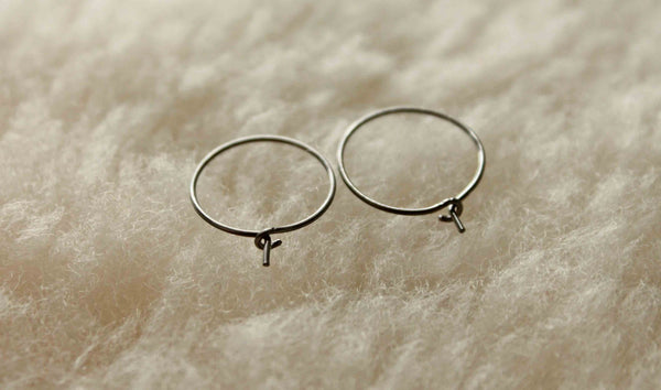 Relief Hoops - (thinner) 22 gauge Niobium Hoop Earrings - Nickel Free Hypoallergenic Earrings - Pretty Sensitive Ears