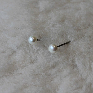 Med 5-5.5mm Classic Pearls (Your Choice of Hypoallergenic Earrings for Sensitive Ears - Nickel Free Niobium, Titanium, Surgical Steel) - Pretty Sensitive Ears