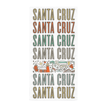 Santa Cruz Stacked Iconic Beach Towel