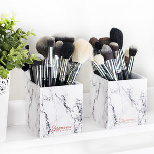 Acrylic Marble Brush Holder