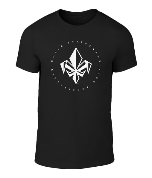 Black Mens Chest Fleur De Lis T Shirt | Noble Streetwear