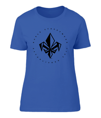 Heather Blue Womens Chest Fleur De Lis T Shirt | Noble Streetwear