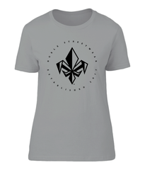 Heather Grey Womens Chest Fleur De Lis T Shirt | Noble Streetwear