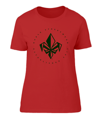 Red Womens Chest Fleur De Lis T Shirt | Noble Streetwear