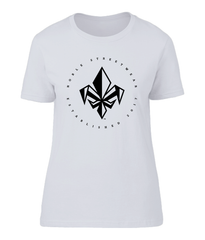 White Womens Chest Fleur De Lis T Shirt | Noble Streetwear