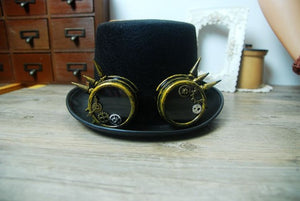 Cyber Steampunk Hat With Goggles