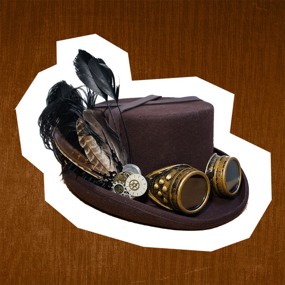 Women Men 100% Wool DIY Fedora Hat Steampunk Hat Steam Punk Gear fedoras Hat Millinery Steampunk Goggles DIY Handmade Cap