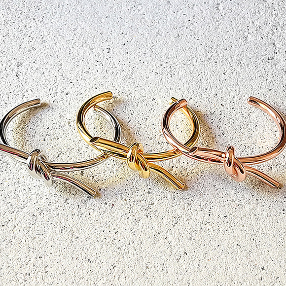 Tied Up Cuff, Gold