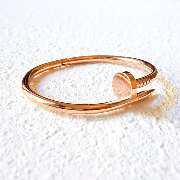 Twisted Nail Cuff, Rose Gold