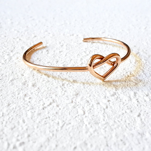 Heart Knot Cuff, Rose Gold