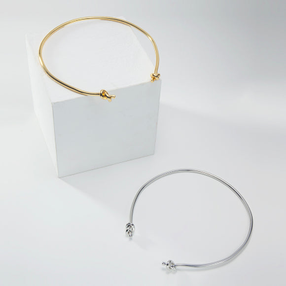 Double Knotted Choker, Gold