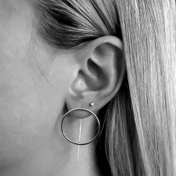 Circle Bar Threaders, Sterling Silver