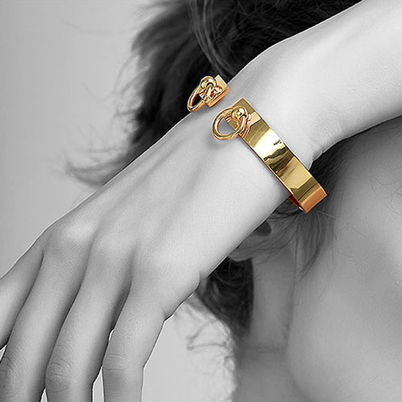 Double Loop Cuff, Gold