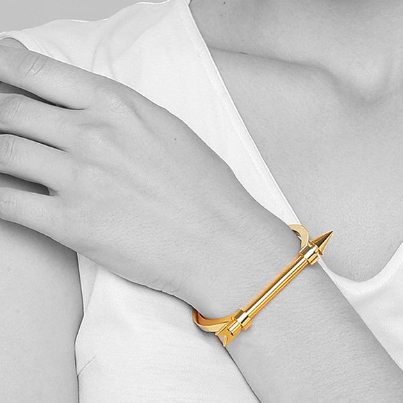 Steel Archer Cuff, Gold