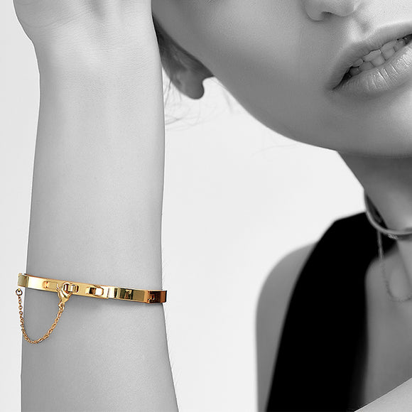 Chained Up Cuff, Gold