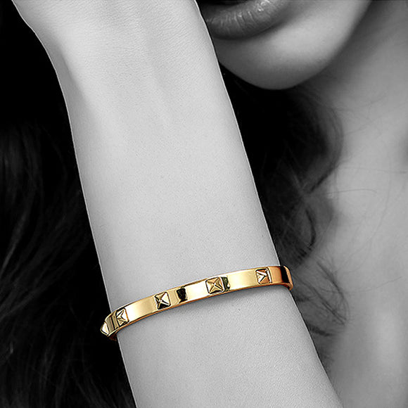 Studded Iron Cuff, Gold