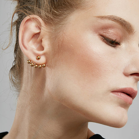 Beautiful Rebel Earrings, Gold