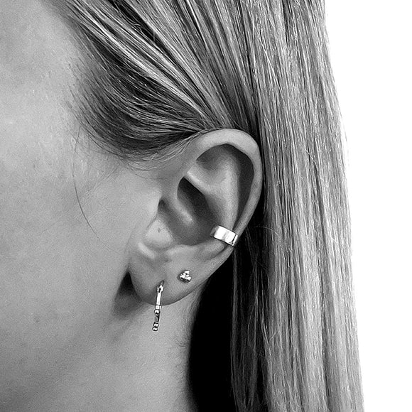 Tiny Trio Studs, Sterling Silver