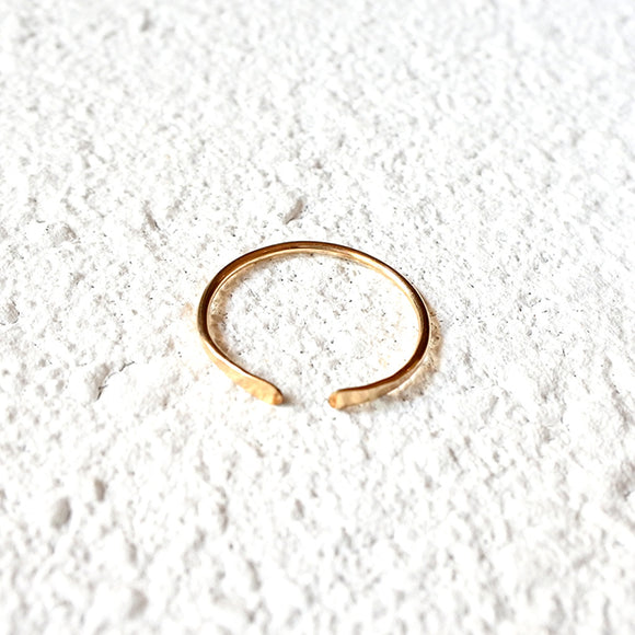 Hammered Ring, Gold Vermeil