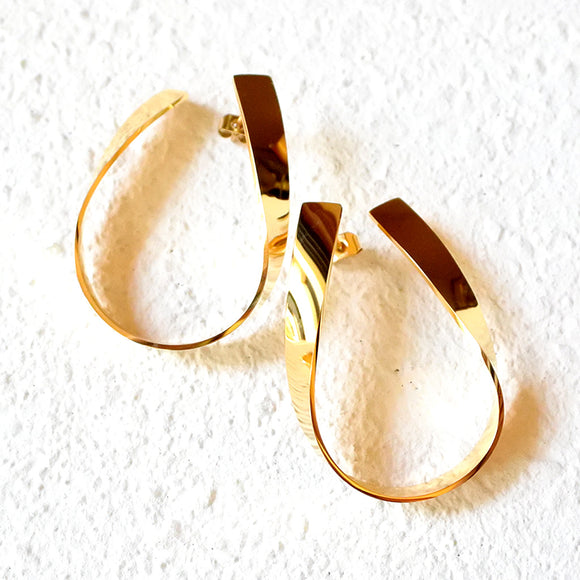 Twisted Metal Hoops, Gold