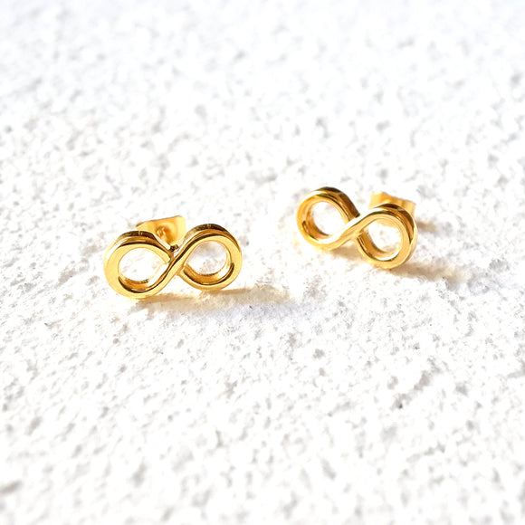 Eternity Stud Earrings, Gold