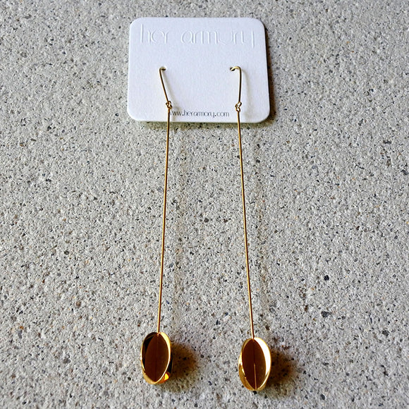 Muse Drop Earrings, Gold