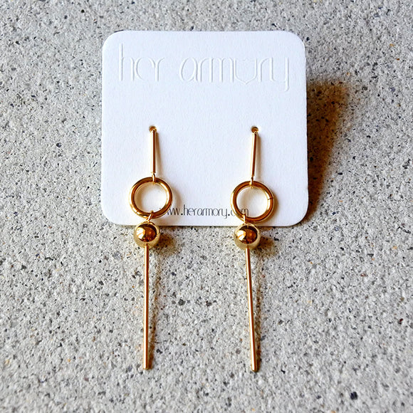 Amazon Drop Earrings, Gold