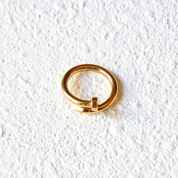 Twisted Nail Ring, Gold