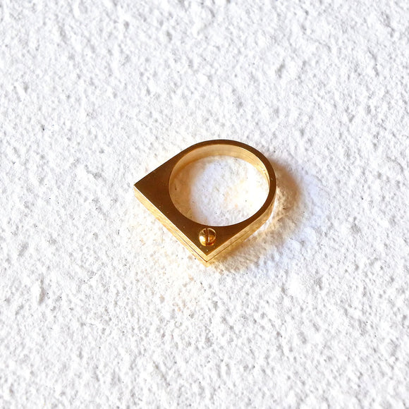 Knuckle Duster Ring, Gold