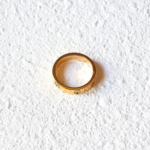 Modern Chivalry Ring, Gold