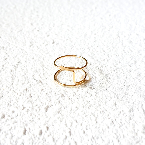 Hammered Midi Ring, Gold Vermeil
